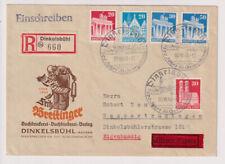 Bizone/Bauten, 88,89,91 u.a., R-Eil-Eigenhändig, Dinkelsbühl,OWS,5.10.48
