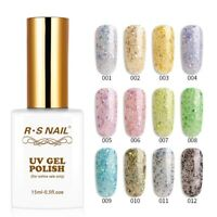 RS Nail Gel Nail Polish UV LED Varnish Soak Off Snow Colours 15ml