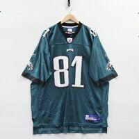 Vintage Terrell Owens #81 Philadelphia Eagles Reebok Jersey Size 2XL Green NFL