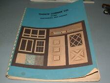 1960's Thorn Lumber Company, Martinsburg Wv Catalog Building Prod, Doors Windows