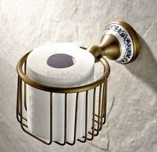 Retro Antique Brass Wall mounted bathroom toilet tissue Paper roll holder fba404