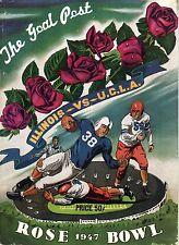 1947 Rose Bowl Football program Illinois Fightin' Illini vs. UCLA Bruins ~ Good