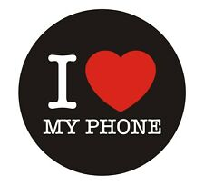 I Love My Phone I Luv My Fone Sticker Decal Graphic Vinyl Label