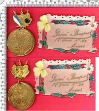 Amitié militaire Franco-Russe, médaille + plaque attribuée, 1891-1893
