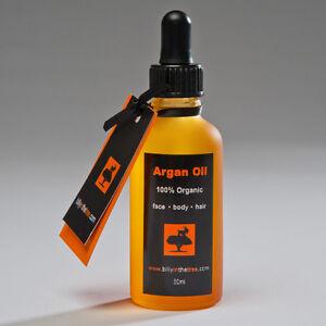 ARGAN OIL 100% Organic 50ml. (100% Pure Moroccan argan Oil) . Face. Body. Hair.