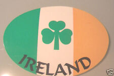 Irlanda Irish Tri Colores & Shamrock Bandera Oval Exterior parachoques etiqueta calcomanía