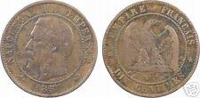 Napoléon III, 10 centimes tête nue, 1857 W = Lille, RARE - 11