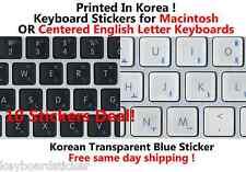 Korean Blue Transparent KEYBD Sticker for Mac / Centered Windows 10 deal