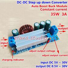 3A DC Buck Boost Converter Constant Current 5V 9V 12V 24V Battery Charger Module