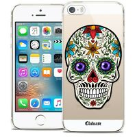 Coque Crystal Pour iPhone 5/5s/SE Extra Fine Rigide Skull Maria's Flower