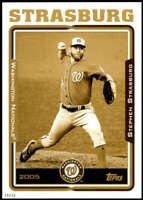 Stephen Strasburg 2021 Topps 5x7 70 Years of Topps Baseball Gold #70YT-55 /10 Na