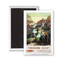 Yorkshire Coast Stahl Kühlschrank Magnet (Se)
