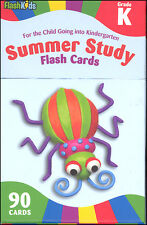Summer Study Flash Cards: Grade K Kindergarten by Flash Kid