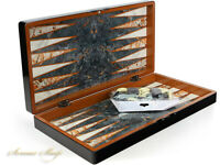 Luxus Backgammon Tavla Marmor Look XXL B -WARE