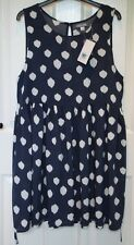 Rip Curl Jade Navy Blue Spot Spotty Beach Holiday Dress & Tie Sash - 14