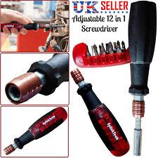 12-In-1 Precision Screwdriver Torx Hex Phillips Slotted Bits Set Repair Tool Kit