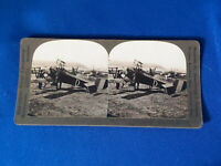 Antique Stereoview Card (38) 18654 A Flock of French Fliers Ready Early Airplane