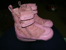 GEOX SPORT 6.5 PINK BABY TODDLER GIRLS BOOTS