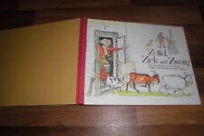 Alois Carigiet -- ZOTTEL, ZICK und ZWERG // große Ausgabe 32 x 25 cm von 1981