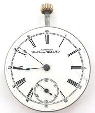 RARE ONLY 36,300 MADE / 1893 WALTHAM 16S 11J MENS POCKET WATCH MOVEMENT & DIAL.