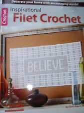 CROCHET PATTERN BOOK INSPIRATIONAL FILET CROCHET
