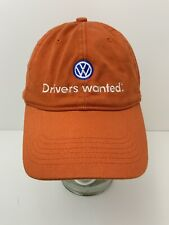 Volkswagen Hat Drivers Wanted Burnt Orange Flexible Fit Cap L-XL Excellent