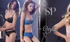 Simone Perele CEYLAN 14D  / 36D Half Cup Bra Sz 4 Shorty China Blue Rrp $155