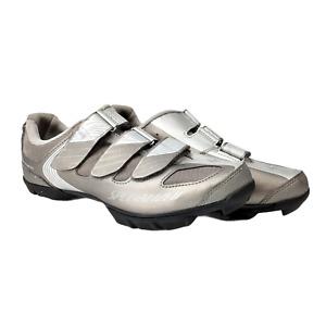 Specialized Riata Body Geometry Women's Cycling Spin Shoes 9.5 EU 41 Bike Silver