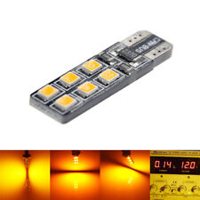 1PCS Amber Orange T10 12-SMD-2835 2821 W5W 158 184 LED Turn Signal Lights Bulbs