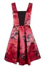 Closet Berry Satin Floral V-Neck Dress 8