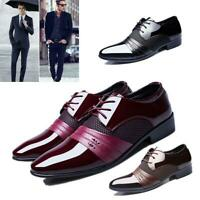 Mens Pointed Toe Formal Dress Business Oxford Leather Shoes Casual Wedding Shoes