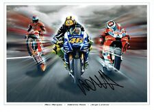 VALENTINO ROSSI Autograph NEW SIGNED 16x12 MONTAGE Photo 4 AFTAL COA The Doctor