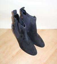 NEW Clarks womens ELLIS TANGLE black suede pull on boots size 7 D