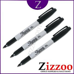 SHARPIE PERMANENT MARKER PENS FINE POINT SET OF 3