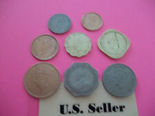 Rare British India coins complete set of 8 US Seller