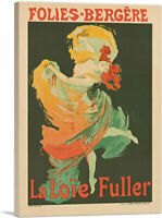 Loie Fuller at the Folies Bergere 1893 Canvas Art Print by Jules Cheret