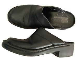 JOSEF SEIBEL Soft Black Leather Comfort Mules Size 6/ 39
