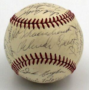 1968 St Louis Cardinals Signed Baseball 22 Sigs Roger Maris Brock Gibson JSA