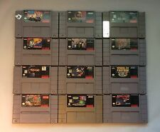 (12) SNES Super Nintendo Game Lot Tested + Working Mortal Kombat Street Fighter