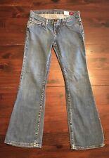 X2 Slim W10 Low Rise Boot Cut Jeans Pants Womens Sz 2 SHORT Medium Wash 28x28