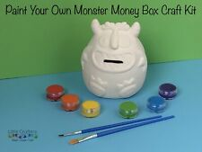 Paint Your Own Ceramic MONSTER Money Box Kids Art Craft Kit ~ Painting Set