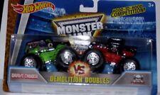Hot Wheels Monster Jam Monster Grave Digger VS Bone Shaker Demolition Die-Cast
