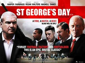 "ST GEORGES DAY repro UK quad poster 30x40"" Footbal Hooligans film FREE P&P rare"