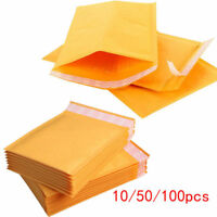 10/20/50/100Pcs Kraft Bubble Mailers Padded Envelopes Yellow Paper Self Seal Bag