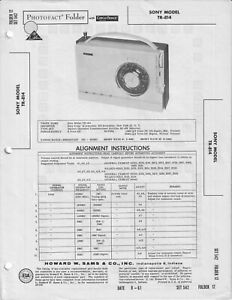 Sony TR-814 Sams Photofacts Original Vintage Transistor Radio FREE SHIPPING