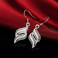 New Women Jewelry 925 Sterling Silver Plated Small Drop Dangle Hook Earrings