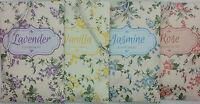 PK of 3 Scented Envelope Sachet Wardrobe Hanging ,Rose,Lavender, Vanilla,Jasmine
