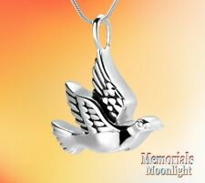 New Dove Urn Bird Cremation Pendant Ashes Holder Memorial Necklace
