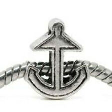 Anchor Charm Bead Spacer for European Snake chain Charm Bracelet