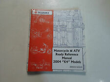 2004 Suzuki Motorcycle & Atv Ready Reference Manual K4 Models Factory Oem 04